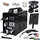 Cirocco MIG Gas Metal Arc Welder Welding Machine Gas Shielded w/ Mask | Gasless Flux Core Wire, Automatic Feed, 110V, 4 Adjustable Heating, Automatic Thermal Safety Protection for Mild/Stainless Steel