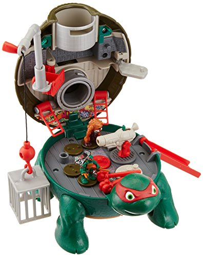 Teenage Mutant Ninja Turtles Micro Mutant Raphael's Roof Top Pet to Turtle Playset]()