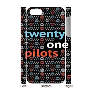 Personalized Durable Cases iphone4 4S 3D Cell Phone Case White twenty one pilots logo Arwdzv Protection Cover