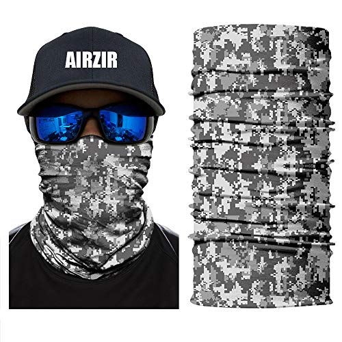(Airzir Outdoor Camo Face Mask, Breathable Seamless Tube Dust-proof Windproof UV Protection Motorcycle Bicycle ATV Face Mask for Motorcycling Cycling Hiking Camping Climbing Fishing Hunting)
