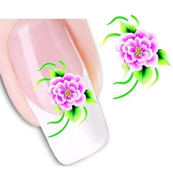 eba0825f080675 Amazon.com   Wintefei Beauty Accessories Floral Flower Pattern Nail Art  Sticker DIY Decal Manicure Tools XF1093   Beauty