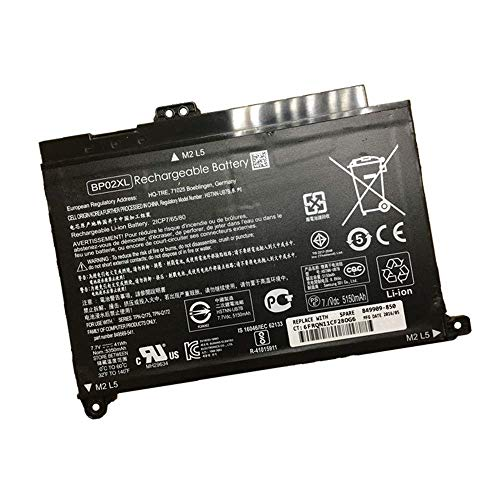 7XINbox 7.7V 41wh 5150mAh BP02XL Replacement Laptop Battery for HP Pavilion PC 15 15-AU 849909-850 (F9-21) 849569-421 HSTNN-LB7H BP02041XL