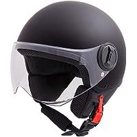 Vinz Sole Roller Helm Jethelm Fashionhelm | in Gr. XS-XL | Jet helm met vizier | ECE-gecertificeerd | motorhelm Basic…