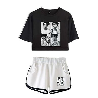 Cameron Boyce Verano Mujer Camiseta Corta Top Conjunto Corto 2 ...
