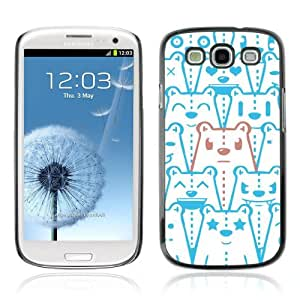 Designer Depo Hard Protection Case for Samsung Galaxy S3 / Bear Pattern