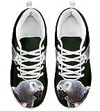 Cheap Shoetup Cute African Grey Parrot Print Women's Casual Sneakers (11.5)