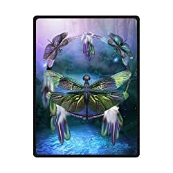 "Kameng Printing Dream Catcher of Dragonfly Throw Blanket Soft and Comfortable Sofa/Bed Blankets 58"" x 80"""