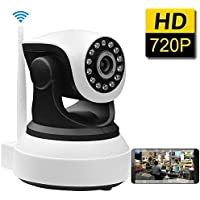 Gracetop Dome Camera Pan/Tilt/Zoom Wireless IP Security Surveillance System 720p HD Night Vision (US Edition)