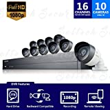 Samsung SDH-C75100 16 Channel 2TB HDD DVR Security System w/ 10 Cameras (Certified Refurbished)