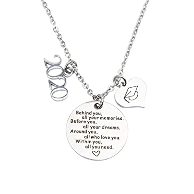 2020 Graduation Gift Necklace Congrats Grad Stainless Steel Jewelry for Graduates: Toys & Games