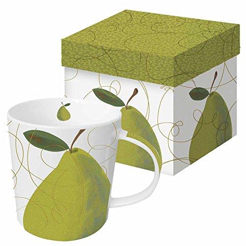 Paperproducts Design Mug In A Gift Box Featuring A La Carte Pear Design, 5 x 4 x 4