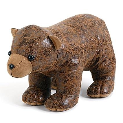 Image Unavailable  sc 1 st  Amazon.com & Amazon.com: Faux Leather Bear Door Stop: Home u0026 Kitchen
