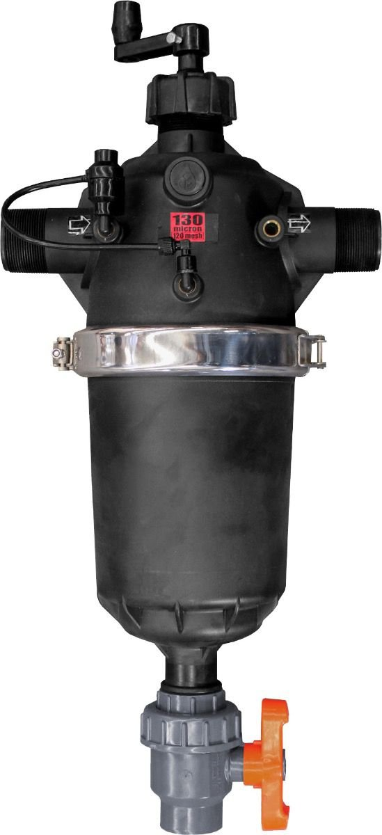 IrrigationKing RKTS225NSA Semi-Automatic T Screen Filter, 120 Mesh, 110 GPM, 2'' by IrrigationKing