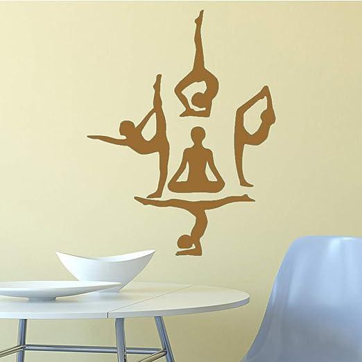 yiyiyaya Yoga Girl Pegatinas de Pared Etiqueta de la Pared ...