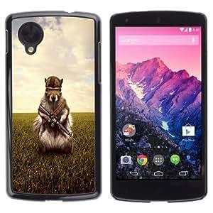 YOYOSHOP [Funny Army Soldier Squirrel] LG Google Nexus 5 Case by ruishername