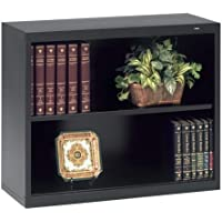 Tennsco Welded Bookcase - 34.5 x 13.5 x 28 - Steel - 2 x Shelf(ves) - Black