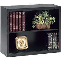Tennsco Welded Bookcase - 34.5 x 13.5 x 28 - Steel - 2 x Shelf(ves) - Black