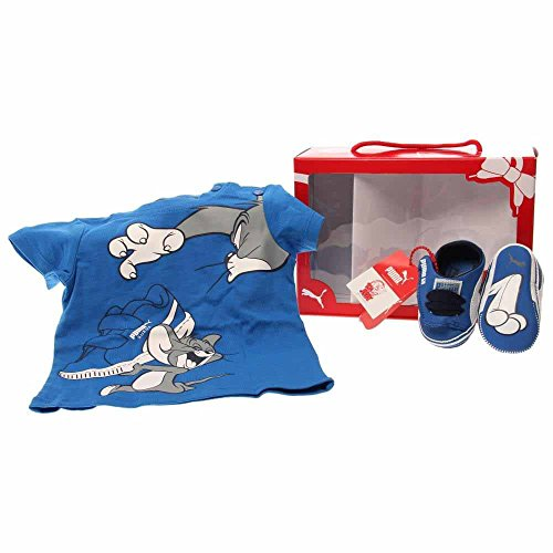 (PUMA Crib pack Tom and Jerry Infant Shoe (Infant/Toddler) , Strong Blue/White, 3 M US Infant)