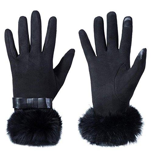 Faux Black gloves for women