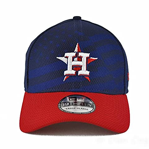 MLB Houston Astros 2015 July 4th Stars and Stripes 39THIRTY Stretch Fit Cap, Small/Medium, Blue