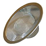 LASCO 03-1382 304 Stainless Steel Mesh Shower Drain Strainer with Chrome Plated Ring
