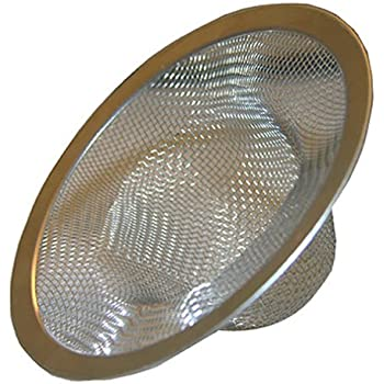 LASCO 03 1382 304 Stainless Steel Mesh Shower Drain Strainer With Chrome  Plated Ring