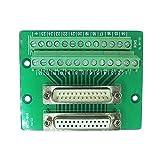 Swellder Connector Db25 D-sub Female Plug 25-pin Port Terminal Breakout PCB Board Male Plug 25-pin Port