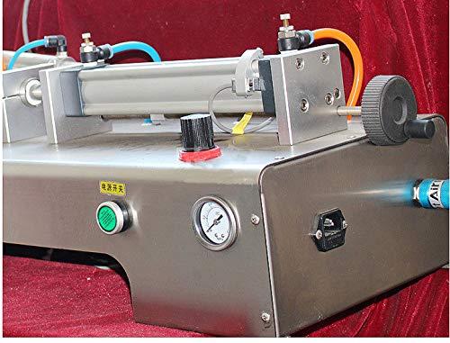 Pneumatic Liquid Filling Machine 100ml-1000ml Volume, Lolicute Semi-Automatic Liquid Filler Single Nozzles for Shampoo, Oil, Water, Perfume 110V by Lolicute (Image #3)