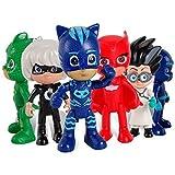 PJ Masks Juguetes 6 Pcs Figuras de dibujos animados populares en movimiento - PJ Masks Toys