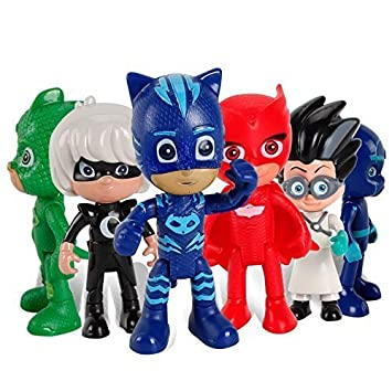PJ Masks Juguetes - PJ Masks Toys 6 Pcs Moving Figures Popular Cartoon Figure Toys