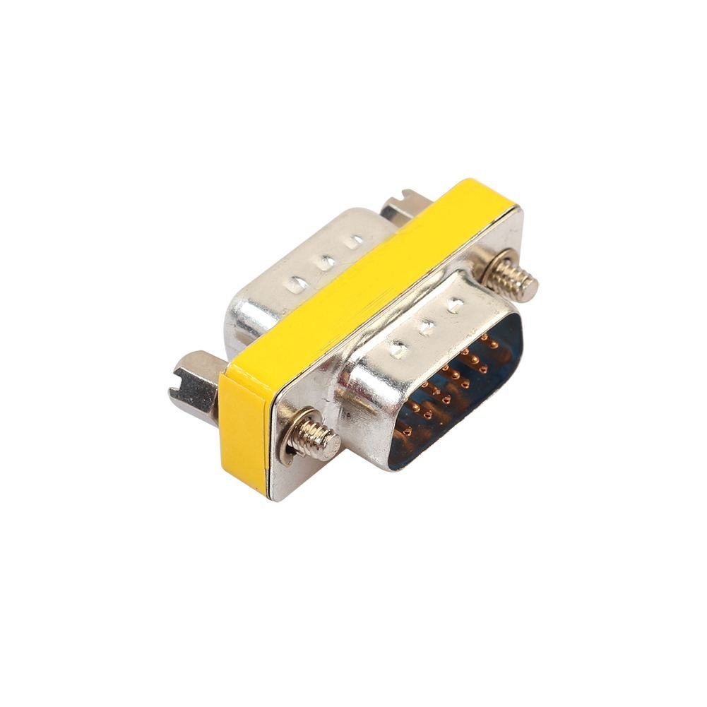 Nrpfell DB15 Mini Gender Changer Adapter RS232 Com D-Sub to Male Female VGA Plug Connector 15 15pin