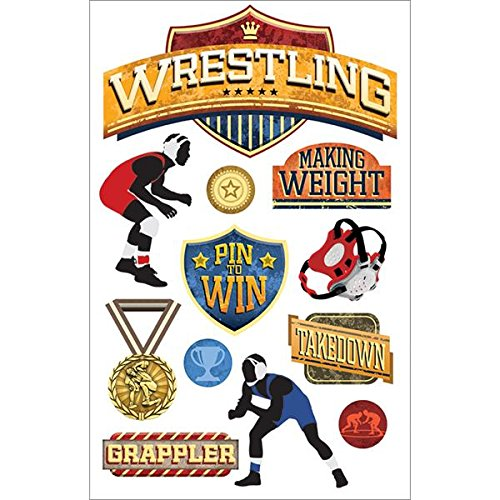 Paper House Productions STDM-206E 3D Stickers, Wrestling]()