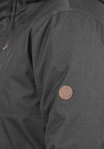 Para Grey De Invierno Bello Chaqueta Parka 2890 Capucha Con solid Hombre Dark Abrigo gw4xTAwRq
