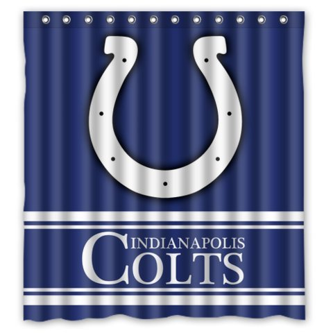 ATaZ Simple Blue Indianapolis-Colts Standard Size Shower Curtain 66 by 72-Inch ()