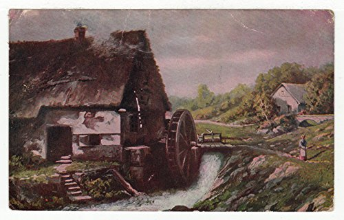 Old Mill & River Scene Vintage Original Postcard #2611 - Early (Early Vintage Scene)
