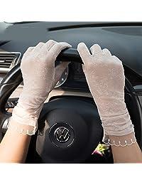 Stylish Short Summer Women Driving Sunproof Lovely Lace Gloves