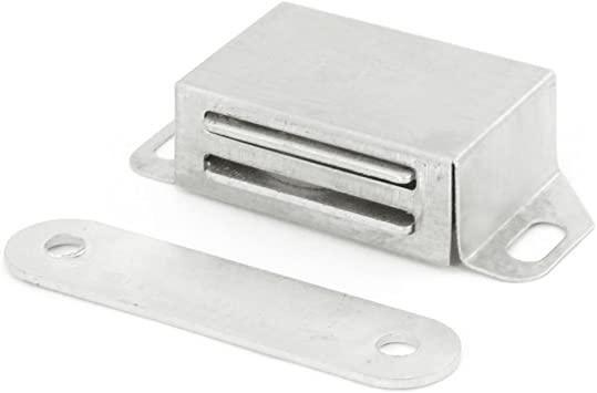 Uxcell 2-Inch Cabinet Door Metal Single Magnetic Catch Latch Silver Tone