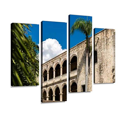 Dominican Republic Panel - Alcazar de Colon in Santo Domingo, Dominican Republic Canvas Wall Art Hanging Paintings Modern Artwork Abstract Picture Prints Home Decoration Gift Unique Designed Framed 4 Panel