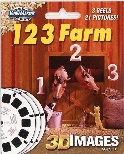 ViewMaster 3Reel Set - 123 Farm - Classic Clay Figure Art - 21 3D - Farm 123