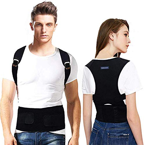 Posture Corrector for Men & Women Medical Back Brace for Men Best Adjustable Posture Brace Provides Lumbar & Back Support Shoulder and Clavicle Lower and Upper Back Pain Kyphosis Device (XL(41