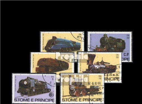 1982 Locomotives - Sao Tome e Principe 808-813 (complete.issue.) 1982 Locomotives (Stamps for collectors)