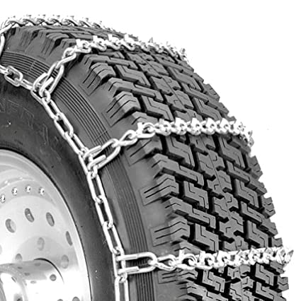 Set of 2 Security Chain Company QG2816 Quik Grip V-Bar Light Truck LRS Tire Traction Chain