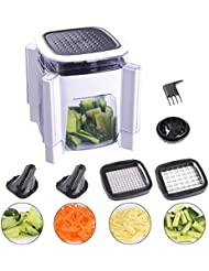 Fun Life Onion Chopper with Spiral Vegetable Slicers Perfect Mandoline Food Chopper for Veggie, New Design for Protecting Eyes from Onion Juice