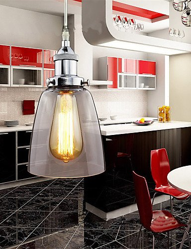 Modern LED Ceiling lampModern Chrome Glass Vintage Industrial Retro Fitting Edison Pendant Light Cafe Dining Room Kitchen Porch Light , ()