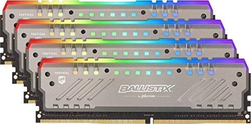 Crucial Ballistix Tactical Tracer RGB 3200 MHz DDR4 DRAM Desktop Gaming Memory Kit 32GB (8GBx4) CL16 BLT4K8G4D32AET4K