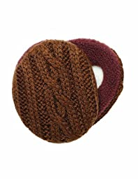 Sprigs Earbags Cable Knit with Thinsulate-Brown-Medium
