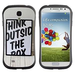 "Hypernova Slim Fit Dual Barniz Protector Caso Case Funda Para SAMSUNG Galaxy S4 IV / i9500 / i9515 / i9505G / SGH-i337 [Piense divertido fuera de la caja""]"