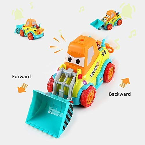 Bix Take Apart Car Construction Toys for 3-4 -5 Years Old Boys /& Girls Lights /& Drill Tool Build Your Own Car Kit STEM Toys with Sounds DIY Assembling Bulldozer Toy Shenzhen Bix Technology Co Ltd