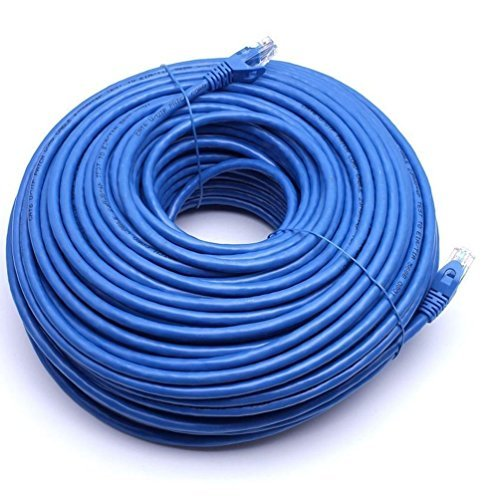 Fashion 200FT CAT6 RJ45 23AWG UTP Twist Pair Solid Network Ethernet LAN Cable Blue by Letter Love Fashion Furniture