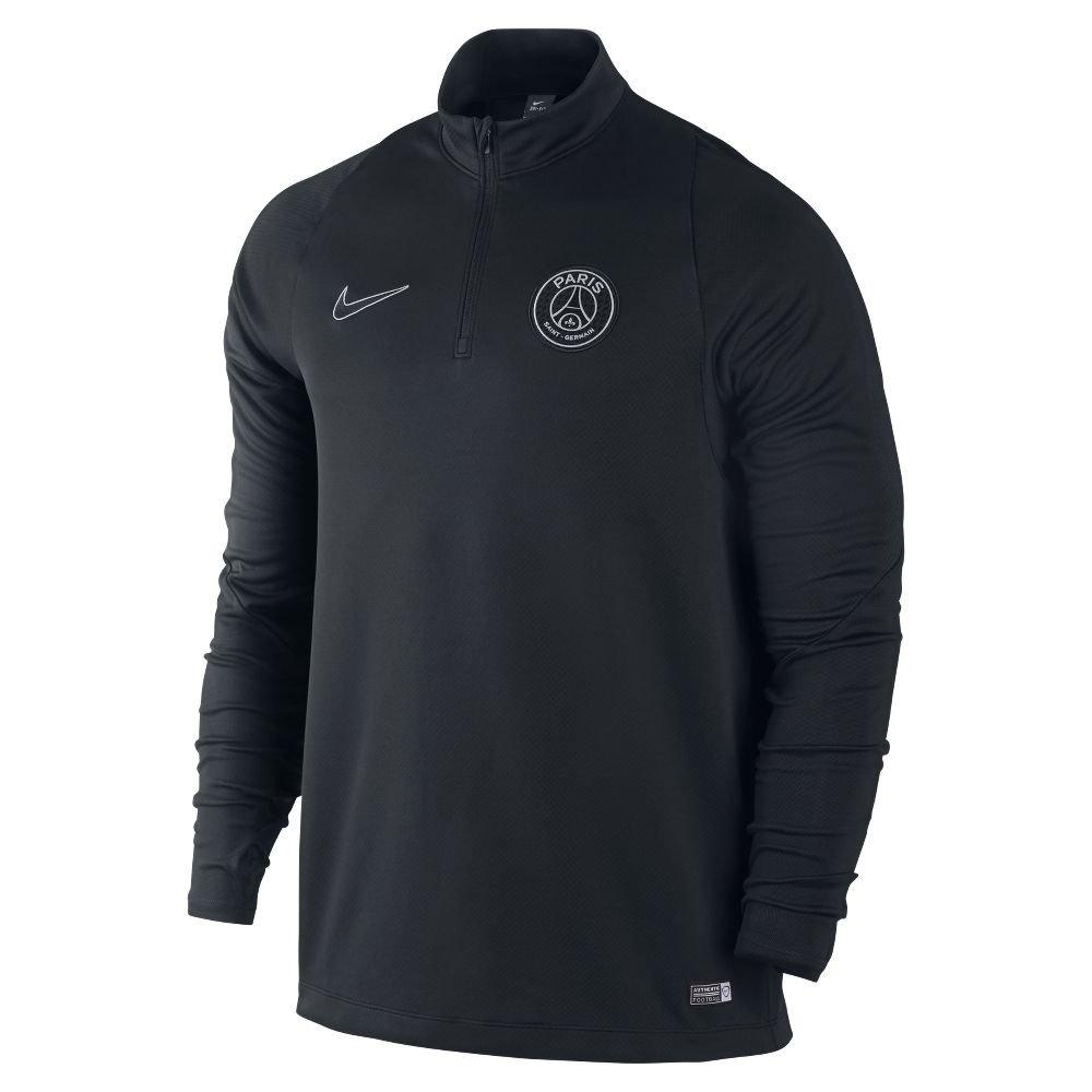 2015–2016 PSG Nike Midlayer Top (schwarz)